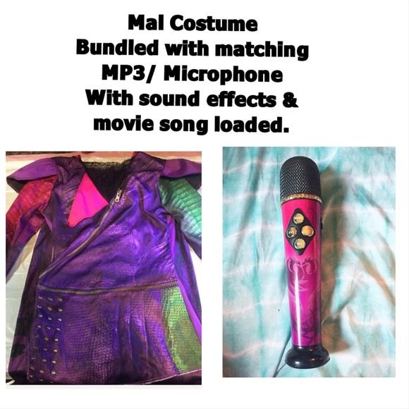 Disney descendants Mal costume w/ MP3 microphone